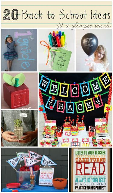 A Glimpse Inside: 20 Back to School Ideas