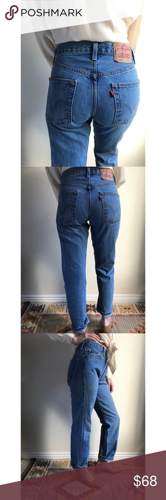 e55b76c7 [vintage] Levis 501 medium blue jeans Classic Levis 501 jeans vintage circa  90s/