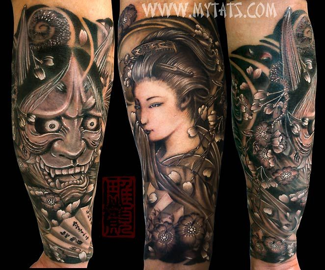 Geisha hannya tattoo best tattoos tatuajes - Tattoos geishas japonesas ...