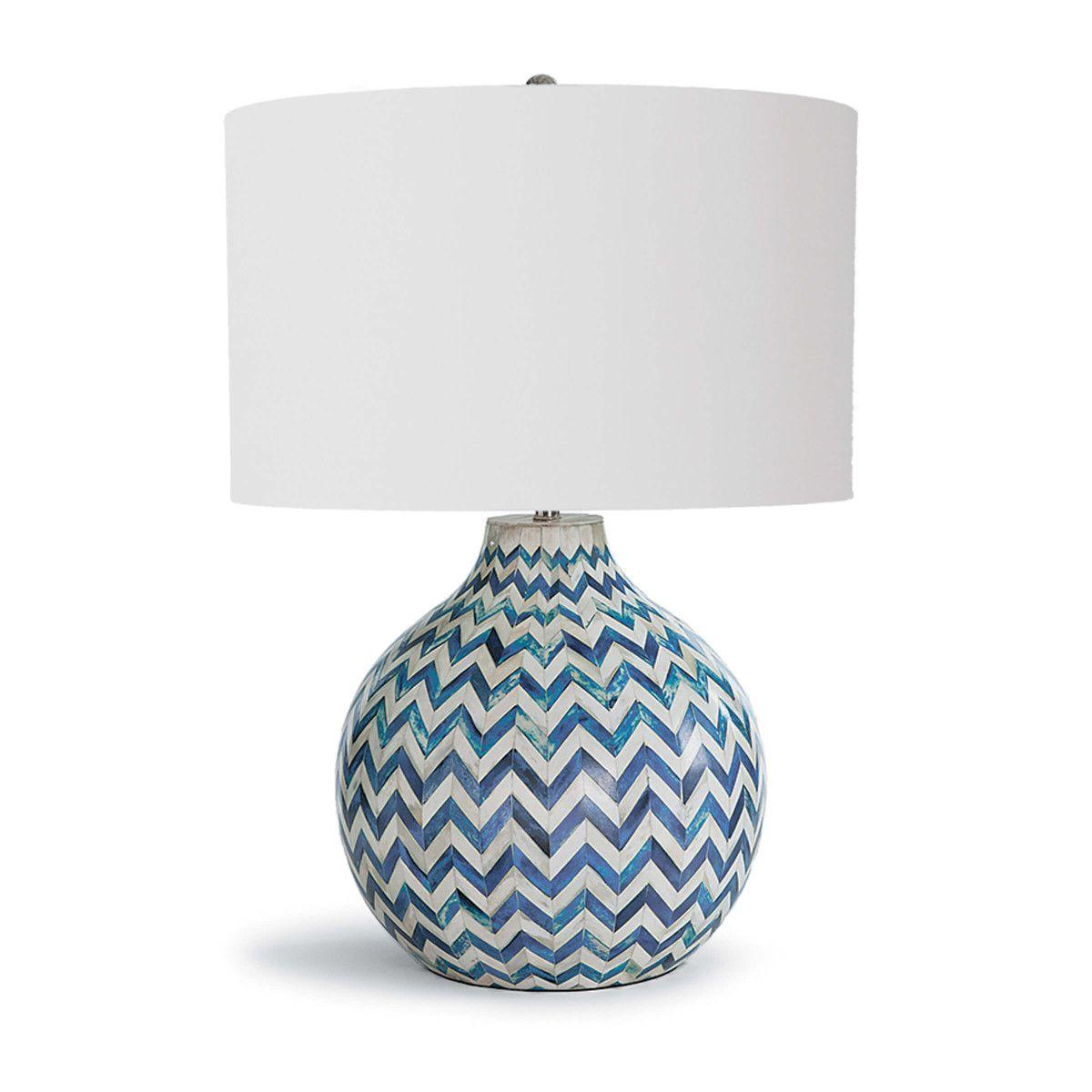 Chevron bone table lamp regina andrew