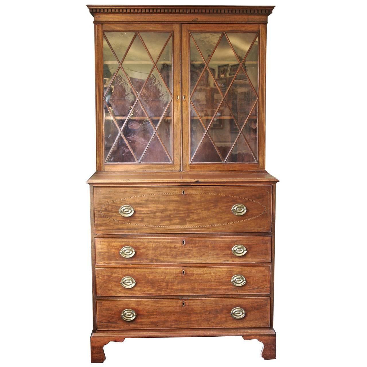 Maryland Hepplewhite Secretary Bookcase. Antique FurnitureFurniture ... - Maryland Hepplewhite Secretary Bookcase Furniture Storage, Storage