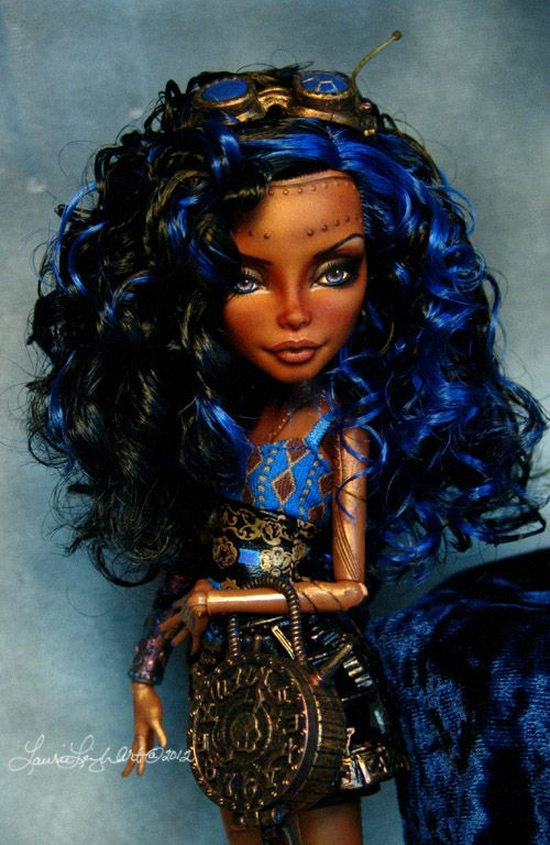 Monster high custom robecca steam repaint by - Poupee monster high robecca ...