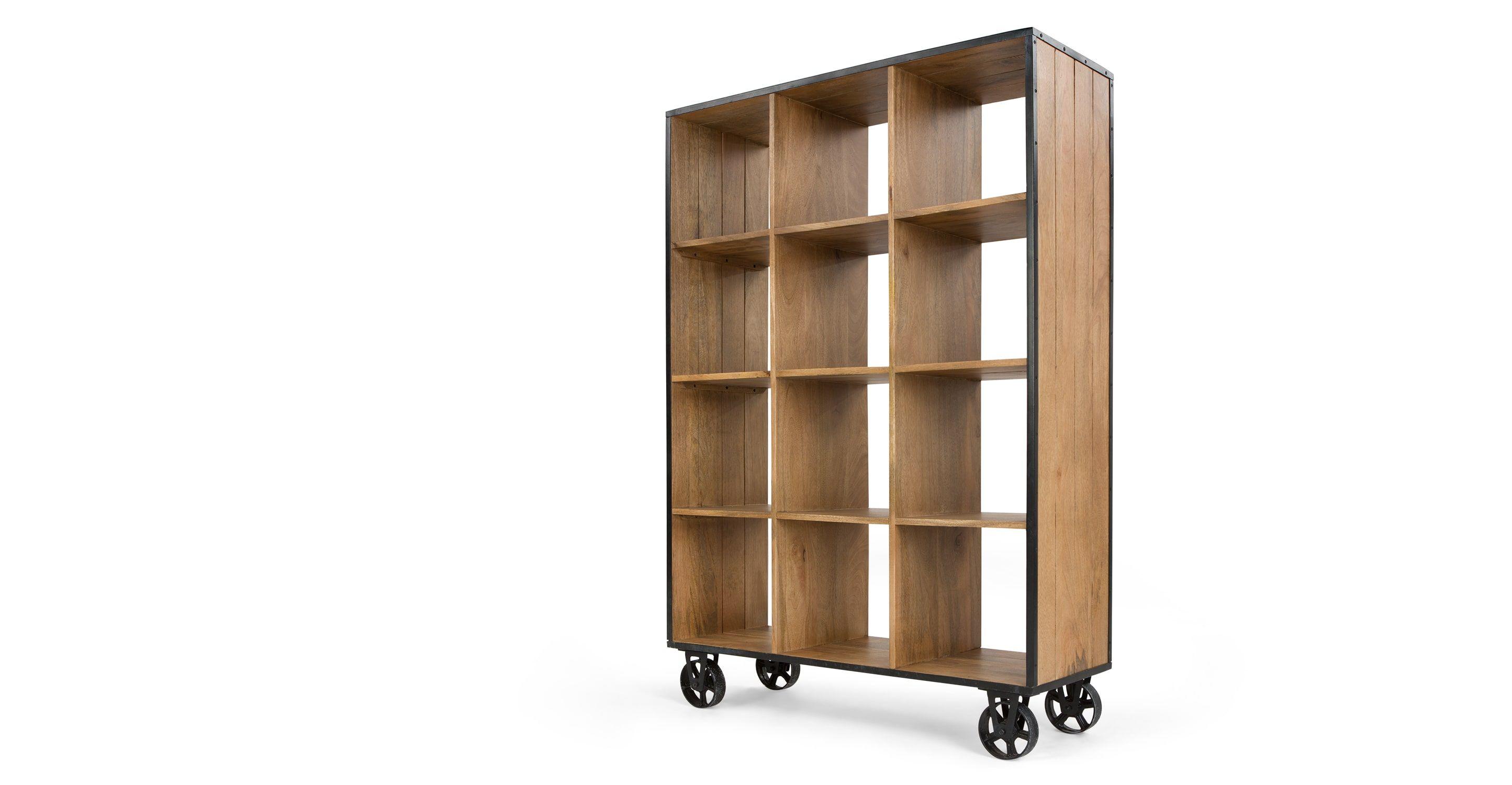 Humphrey Large Shelving Unit, Mango Wood | Woods, Apartment entrance ...
