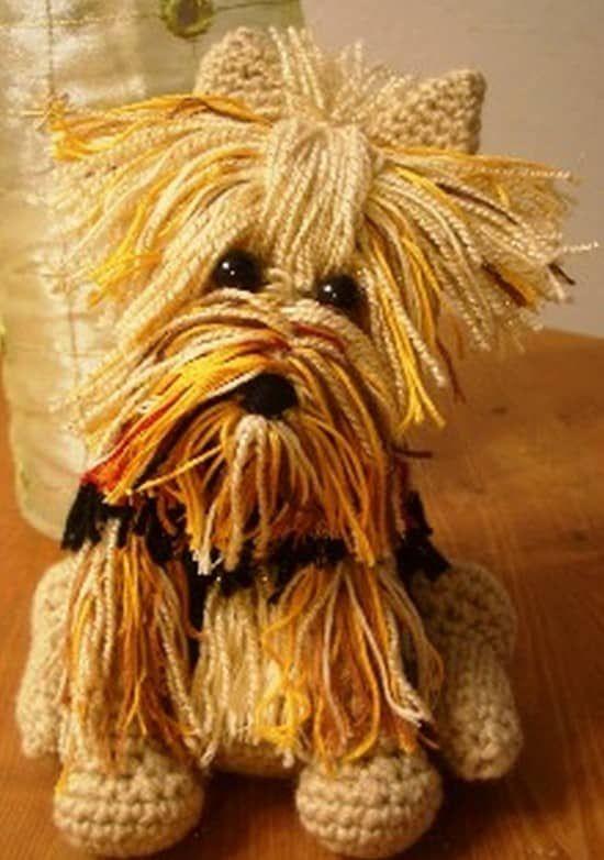 Free Crochet Yorkie Dog Pattern With Video | Ganchillo, Patrón de ...