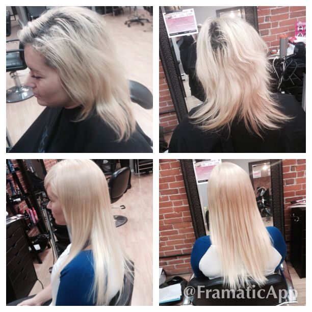 Before And After Blonde And Tape In Bebe Extensions Tape In Hair