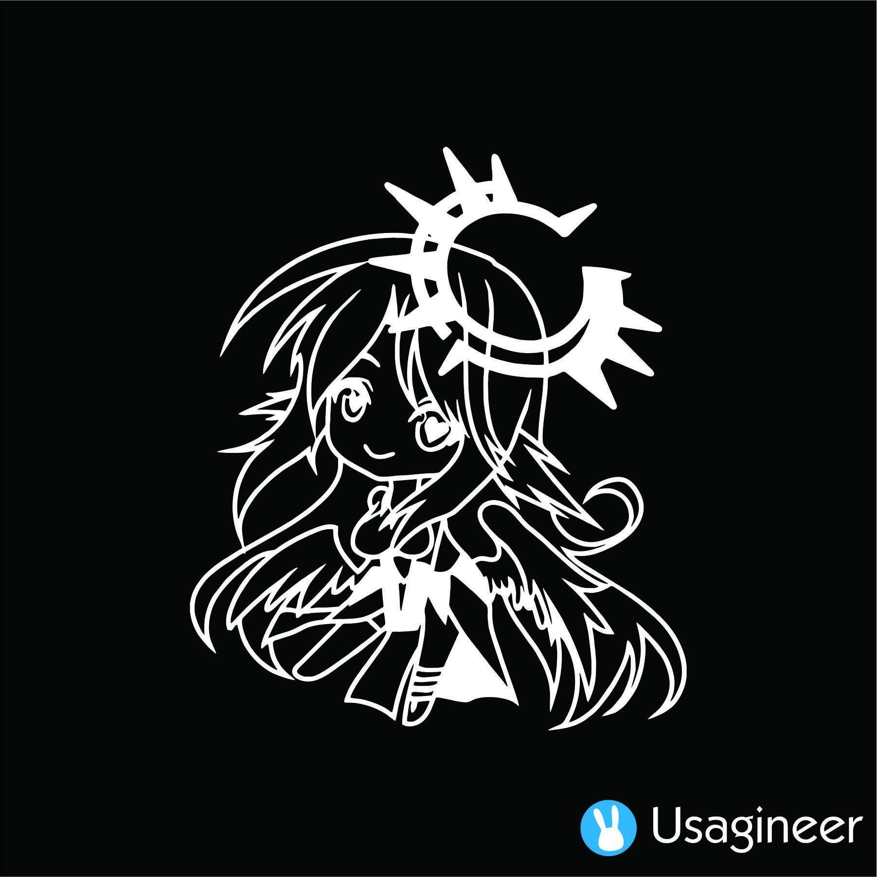 No Game No Life Jibril Anime Decal Sticker Anime Decals No Game No Life Custom Decals