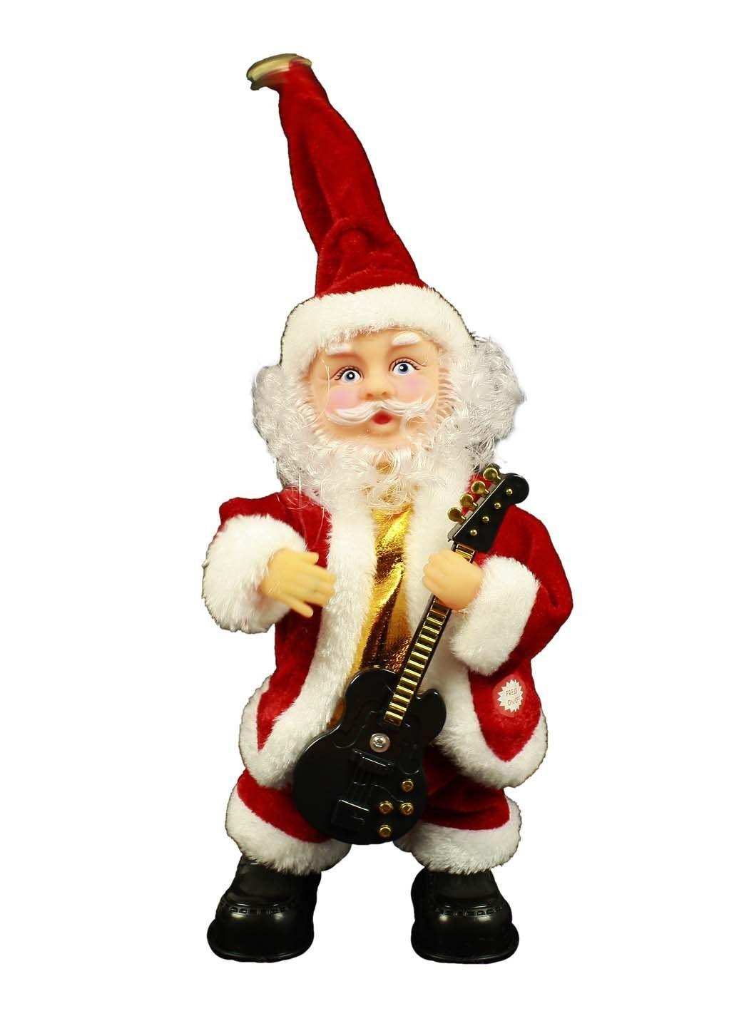 Der Spielzeugtester Hat Das Haac Singende Und Tanzende Weihnachtsmann Nikolaus Wackelfigur Mit Gitarre 29 Cm Fur Tanzender Weihnachtsmann Weihnachtsmann Figur