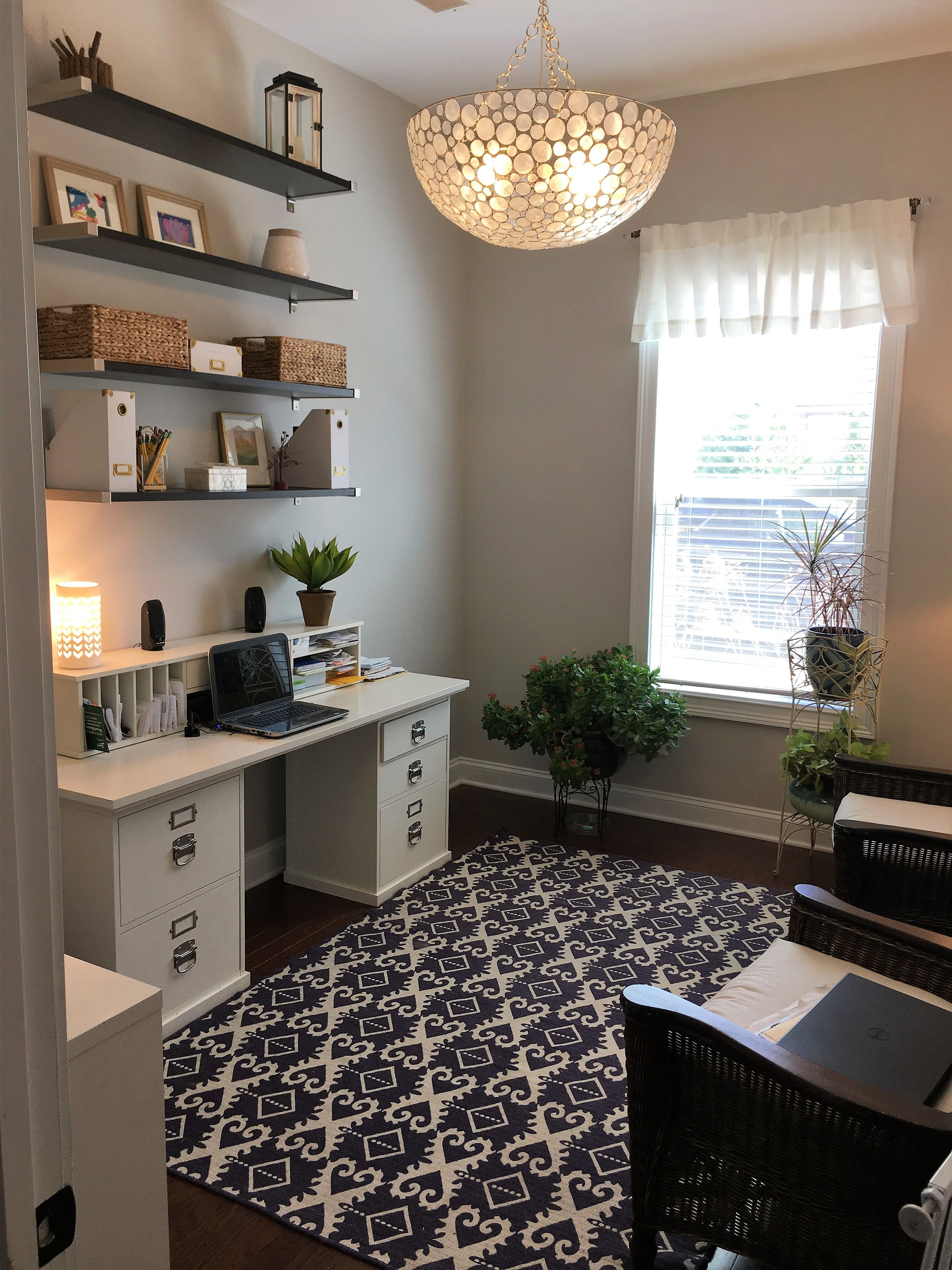 My Office Pottery Barn Desk And Light Ikea Shelves Sw