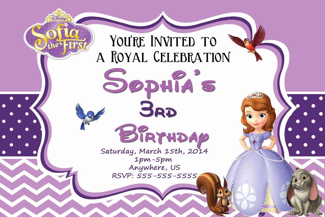 princess sofia invitations template new