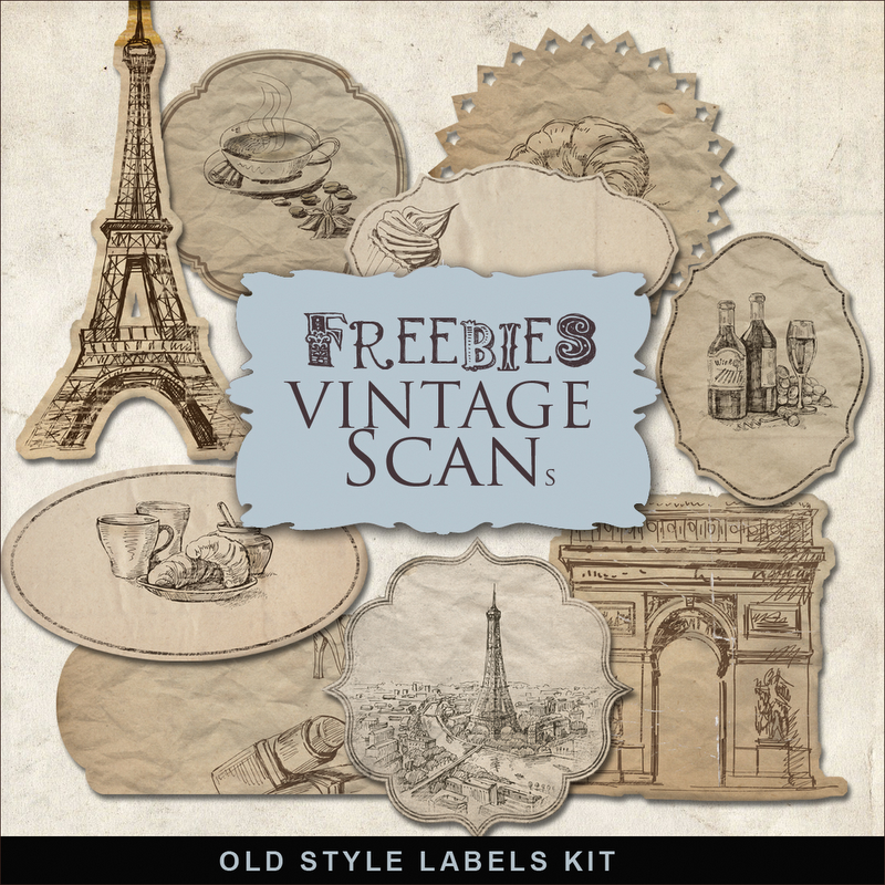 Free Database Of Digital Illustrations And Papers New Freebies Labels Kit Free Vintage Printables Vintage Printables Labels