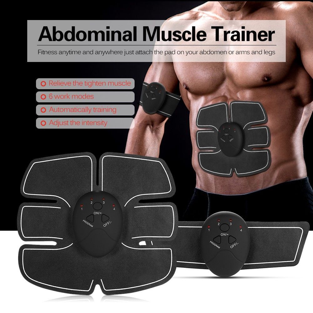 Get 3 In 1 Intelligent Fitness Abdominal Muscle Trainer Battery Fitness Toner Belly Leg Arm Exercise Abdominal Muscles Muscle Training Arm Workout
