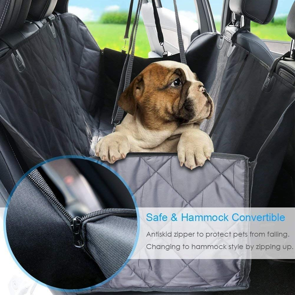 Waterproof Highly Protective Nonslip Pet Seat Cover with Seat Anchors Barneys Dog World- Dog Hammock Car Seat Cover for Cars Back Seat Luxury Protector SUVs and Trucks