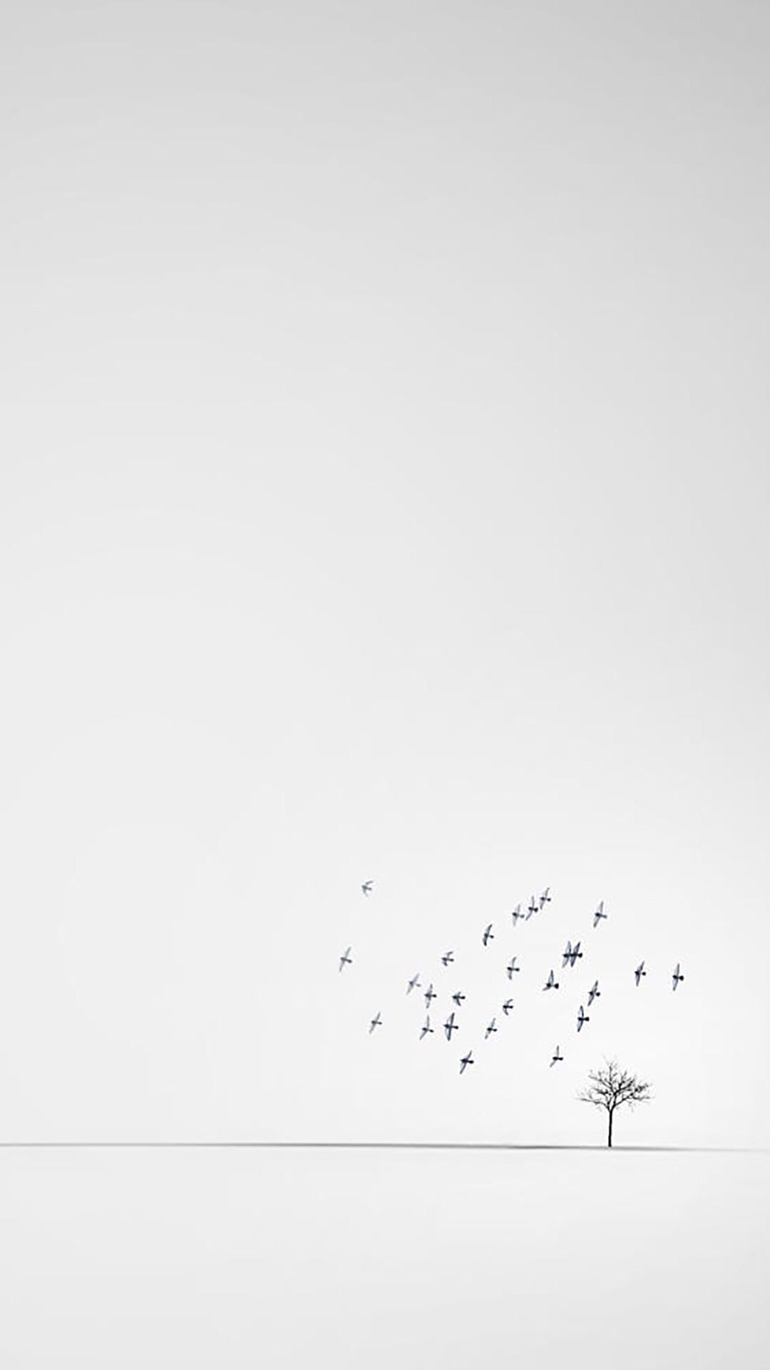 iPhone, Minimalistic, White Wallpaper (With images