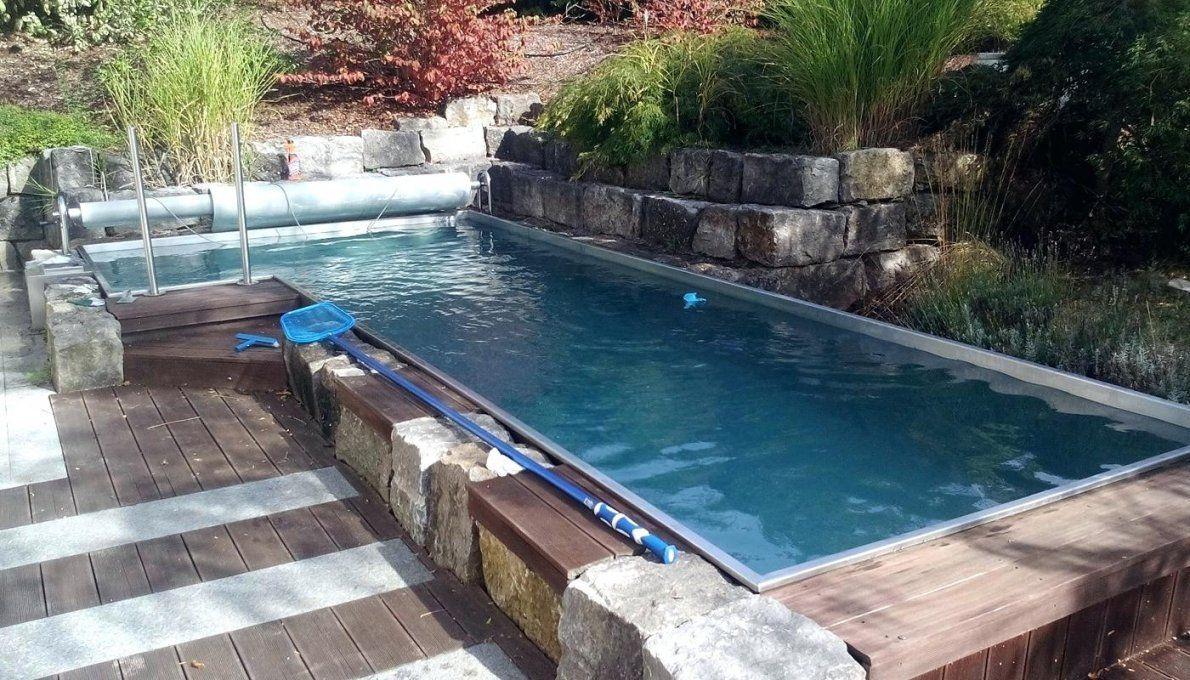 Kleiner Pool Im Garten Selber Bauen Haus Design Ideen Pool Edelstahlpool Bauen Selber Garten Edelstahl Im Kleiner Whirlpool In 2020 Outdoor Pool Outdoor Pool