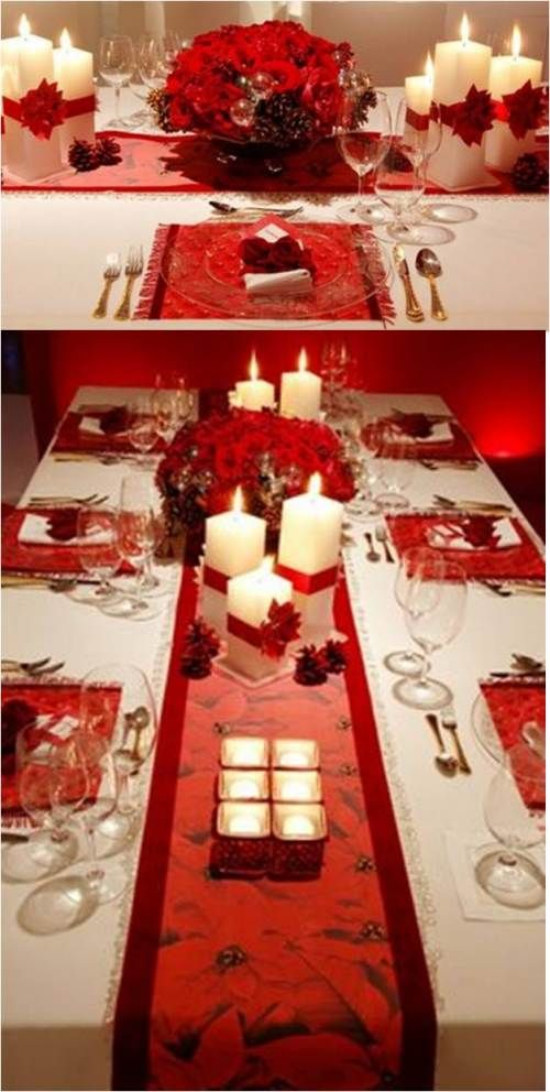 Christmas Table Table settings Pinterest Holidays, Xmas and