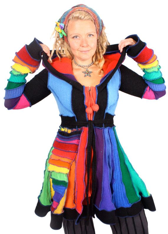 I so love Rainbow Pixie Coats!  July 2015 dolly Parton Collection  Love Is Like A Butterfly MEDIUM by katwise on Etsy