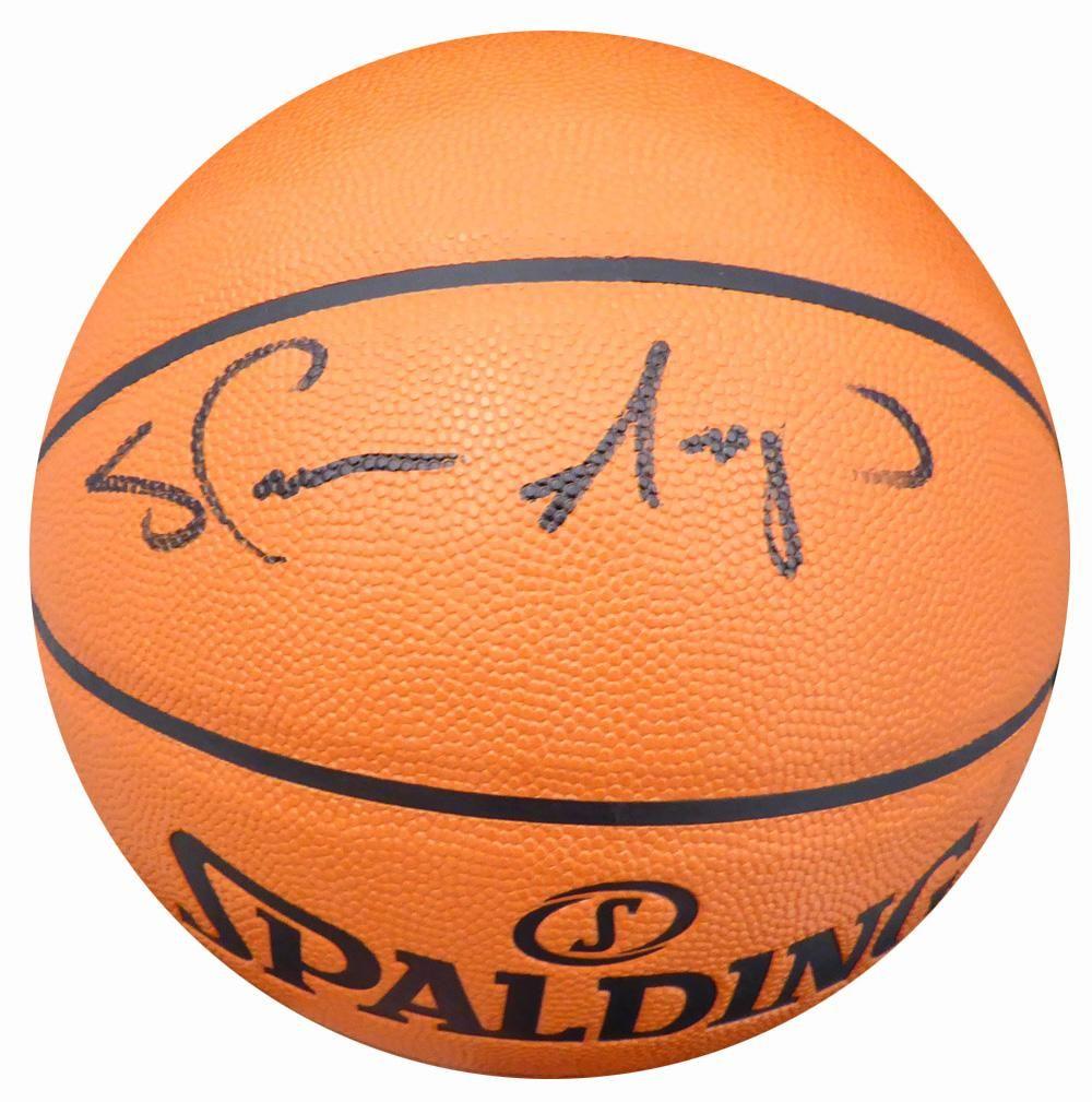 Shawn Kemp Autographed Spalding I/O Basketball Seattle