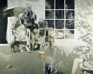 "Palimpsest (2008) 79"" x 98"" / 200 x 250cm, eggoiltempera on canvas"