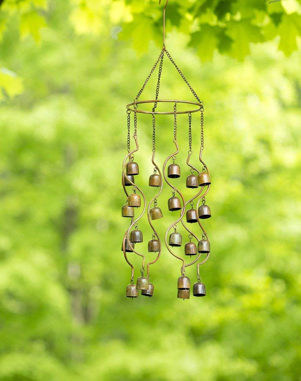 Set of 3 Glass Wind Chime Hanging Bell Home Outdoor Decor Craft DIY Gift