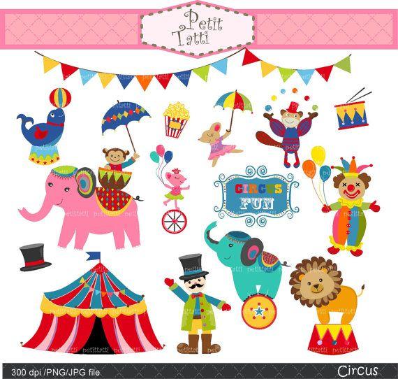 Circus Clip Art Animal Clipart Cute Animals Carnival Digital