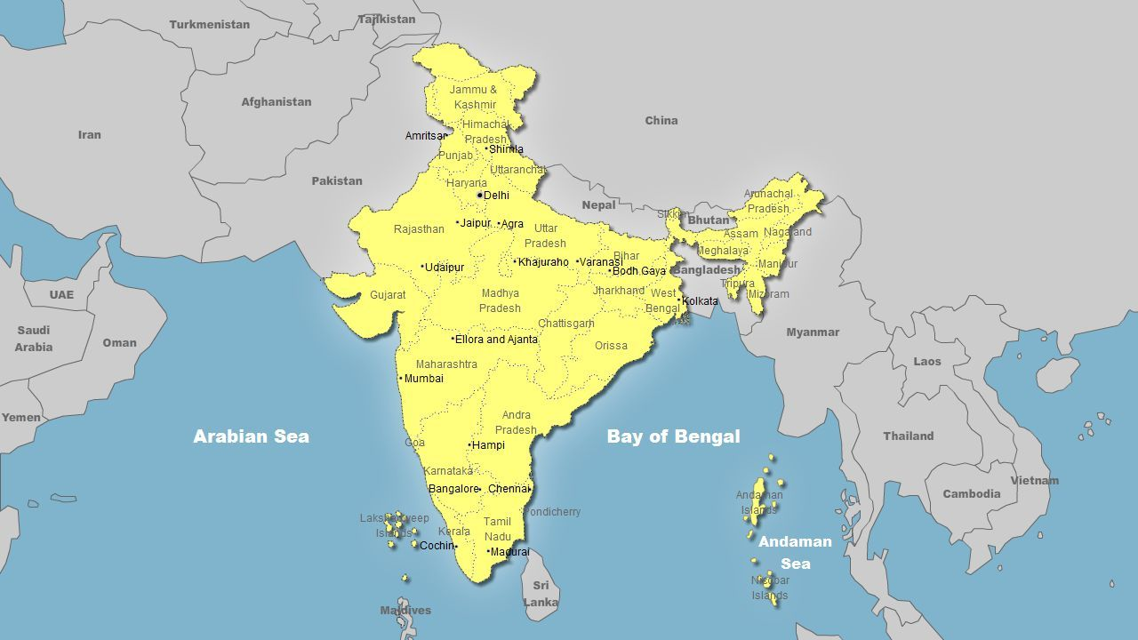 India world map our hometowns pinterest india world map gumiabroncs Choice Image