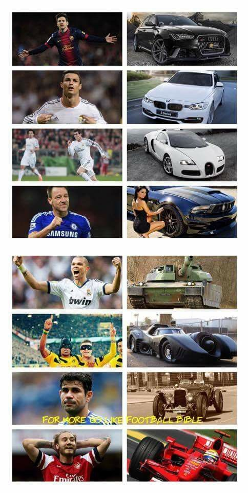 If footballera are cars