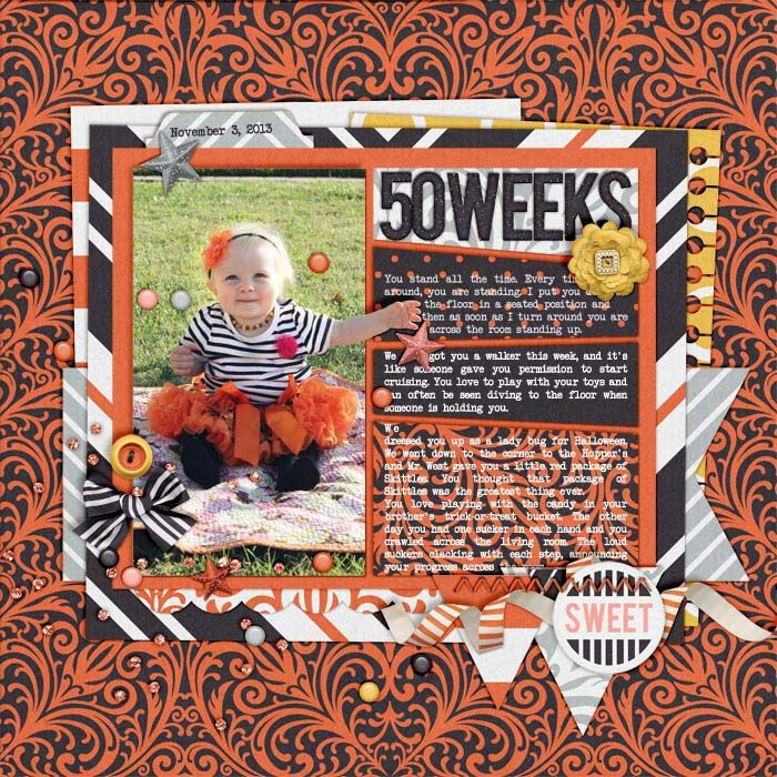 Halloween-ish by Tickled Pink Studio  Template is Recyclables 34 by Scrapping With Liz