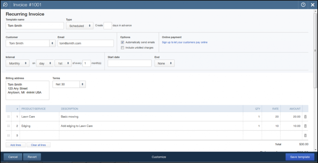 Write A Check In QuickBooks Online Instructions And Video Lesson - Quickbooks recurring invoice