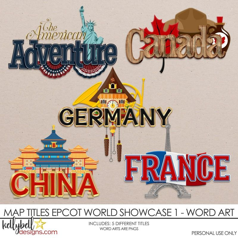 Disney China epcot printed scrapbook title