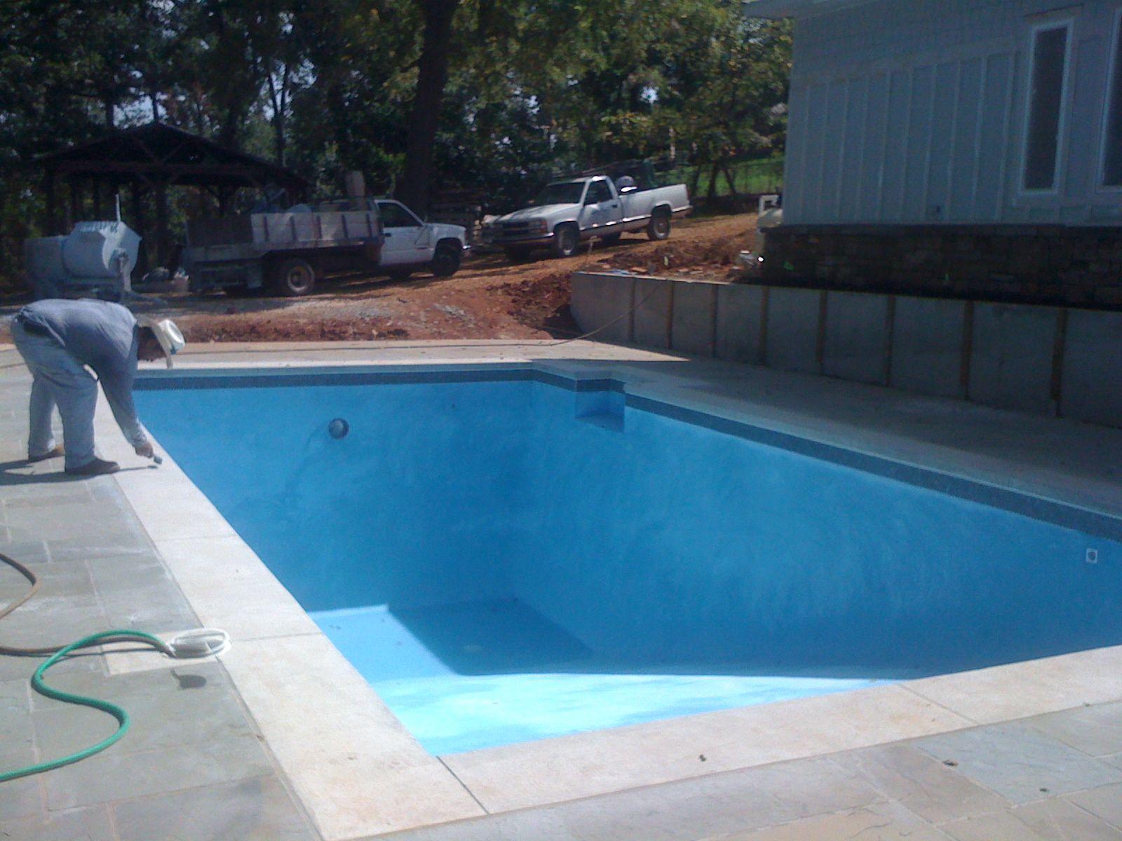 Pool Painted Diamond Brite Tahoe Blue Pool Colors Pool Paint Pool Designs