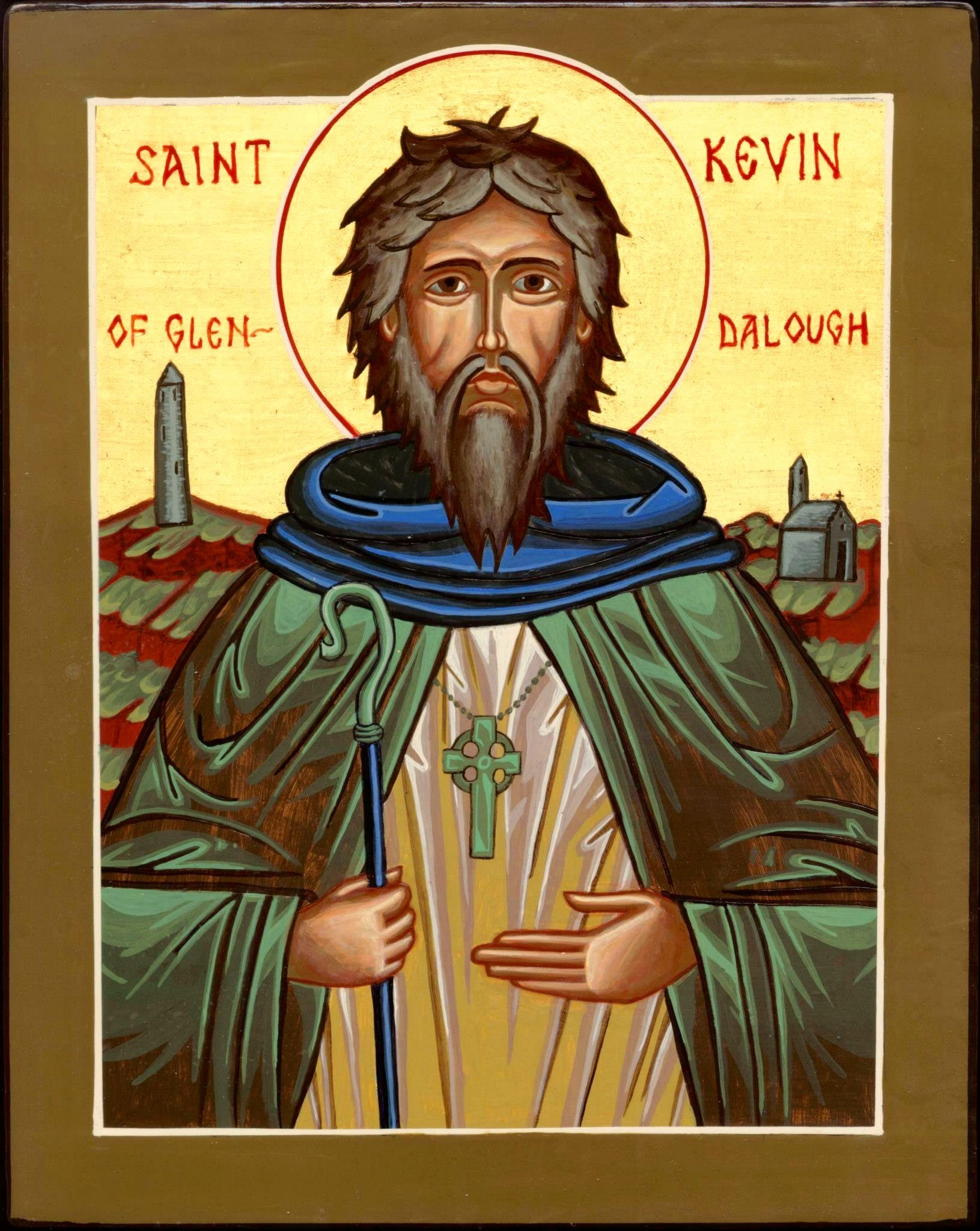 Saint Kevin of Glendalough was the abbot of Glendalough Monastery. He was  born in 498, and fell asleep in the Lord in 618 at the age of… | Catholic  saints, Prayer book, Orthodox icons