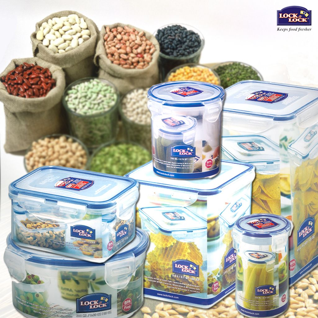 Long-term #food storage is now simple and economical with #Lock & Lock storage containers. Hurry! Get them home now!!!