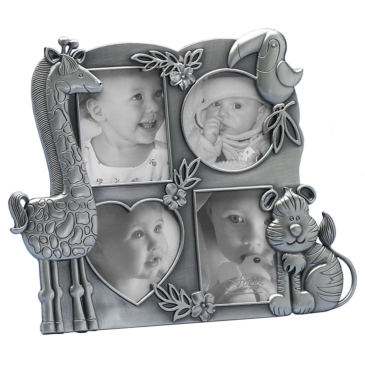Fetco home decor picture frames fetco home d cor fetco home fetco home decor baby jungle four picture opening collage jeuxipadfo Gallery