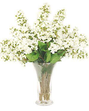 14in Faux Bouvardia Water Vase