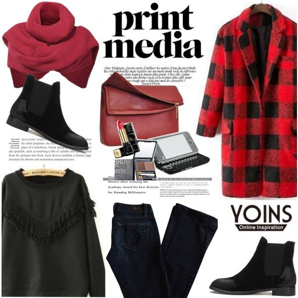 Only 4 days: Join the Yoins contest! by helenevlacho on Polyvore featuring moda, Paige Denim, Eddie, HTC and yoins