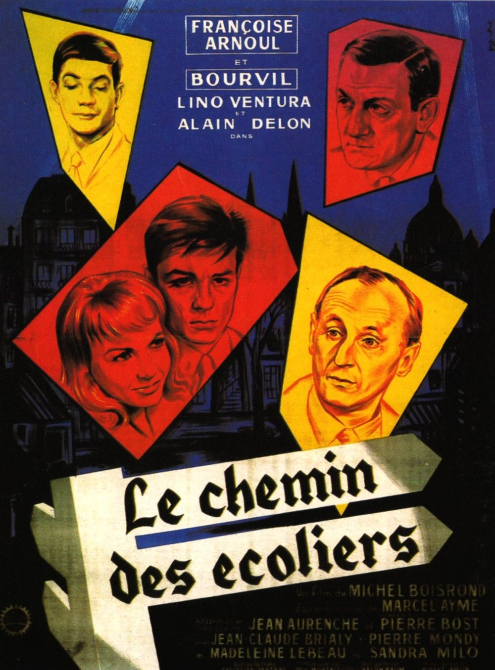 Le Chemin Des Ecoliers 1959 Old Movie Posters Movie Posters
