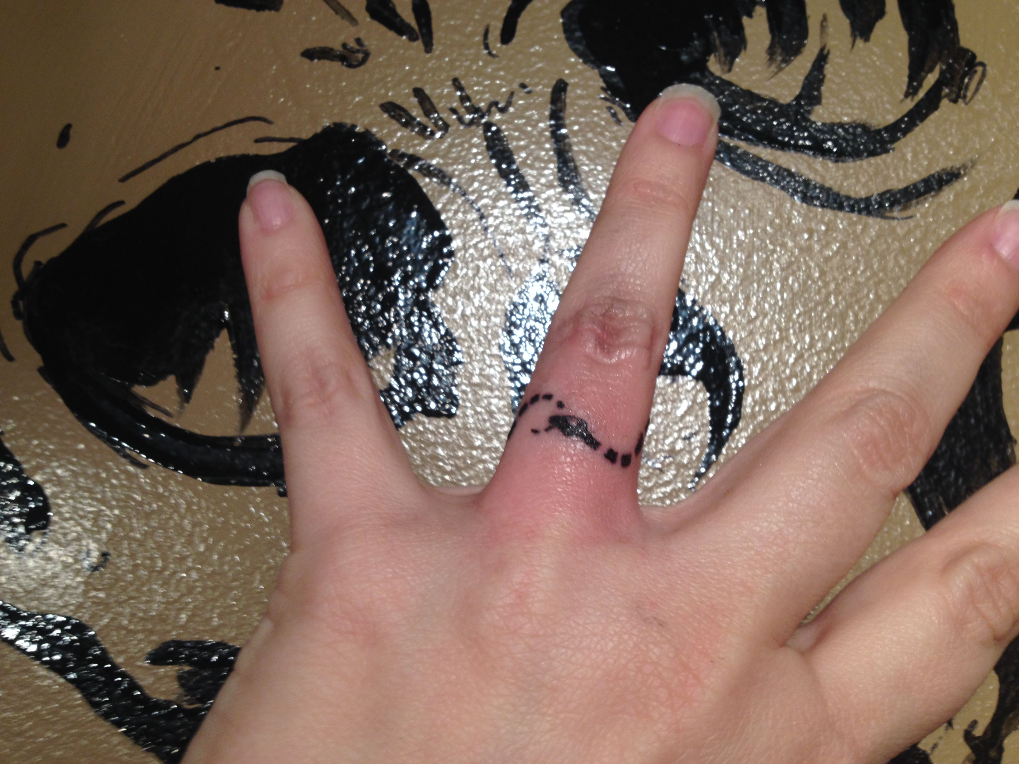 Ouroboros tattoo ring (Tags tiny, small, snake, serpent