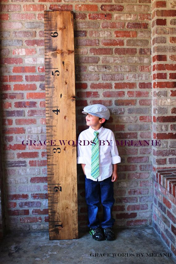 Mark Kids Heights On A Giant Ruler Instead Of Molding That Way You