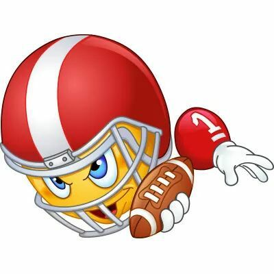 Football Player Smiley Smiley Emoticon Emoji Clipart