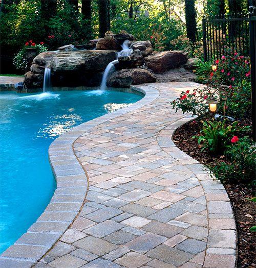 Brick Paver Pool Decks Enhance Pavers Brick Paver Installation Jacksonville Ponte Vedra Orange Park Fl Stone Pool Pool Deck Ideas Inground