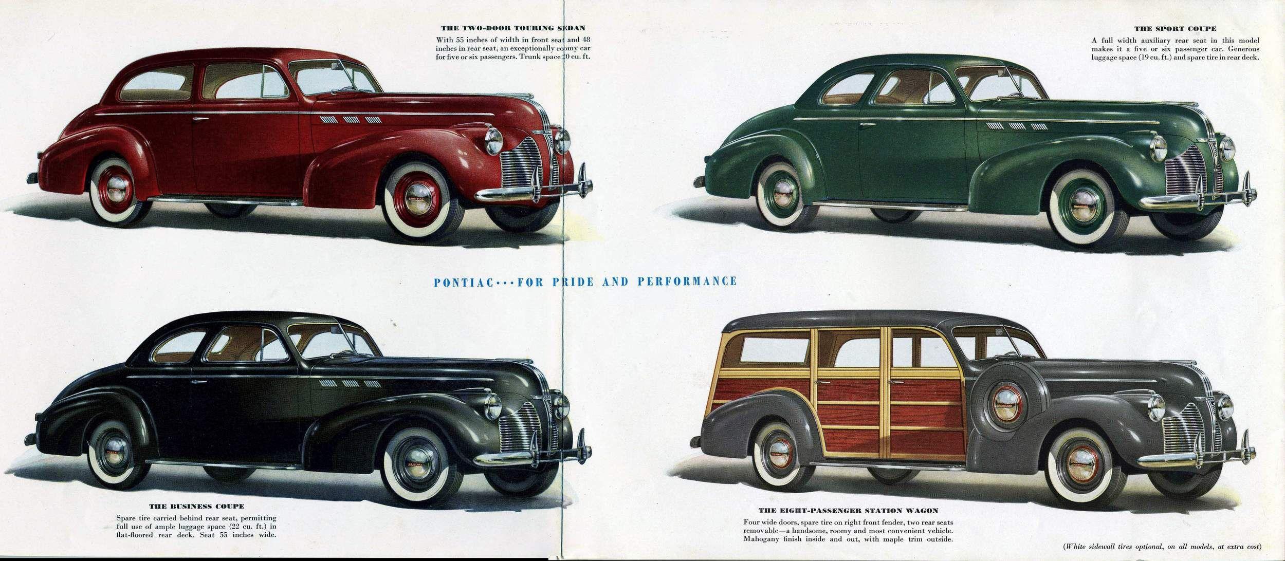 1940 pontiac special six two door touring sedan business for 1940 pontiac 2 door sedan