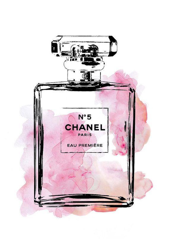 Chanel poster, 24x36 Coco Chanel No5 | Illustration