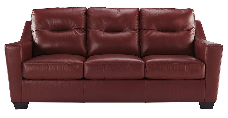 Ashley Furniture Signature Design Kensbridge Contemporary Leather Sofa Sleeper Queen Size Mattr Contemporary Leather Sofa Ashley Furniture Living Room Sofa