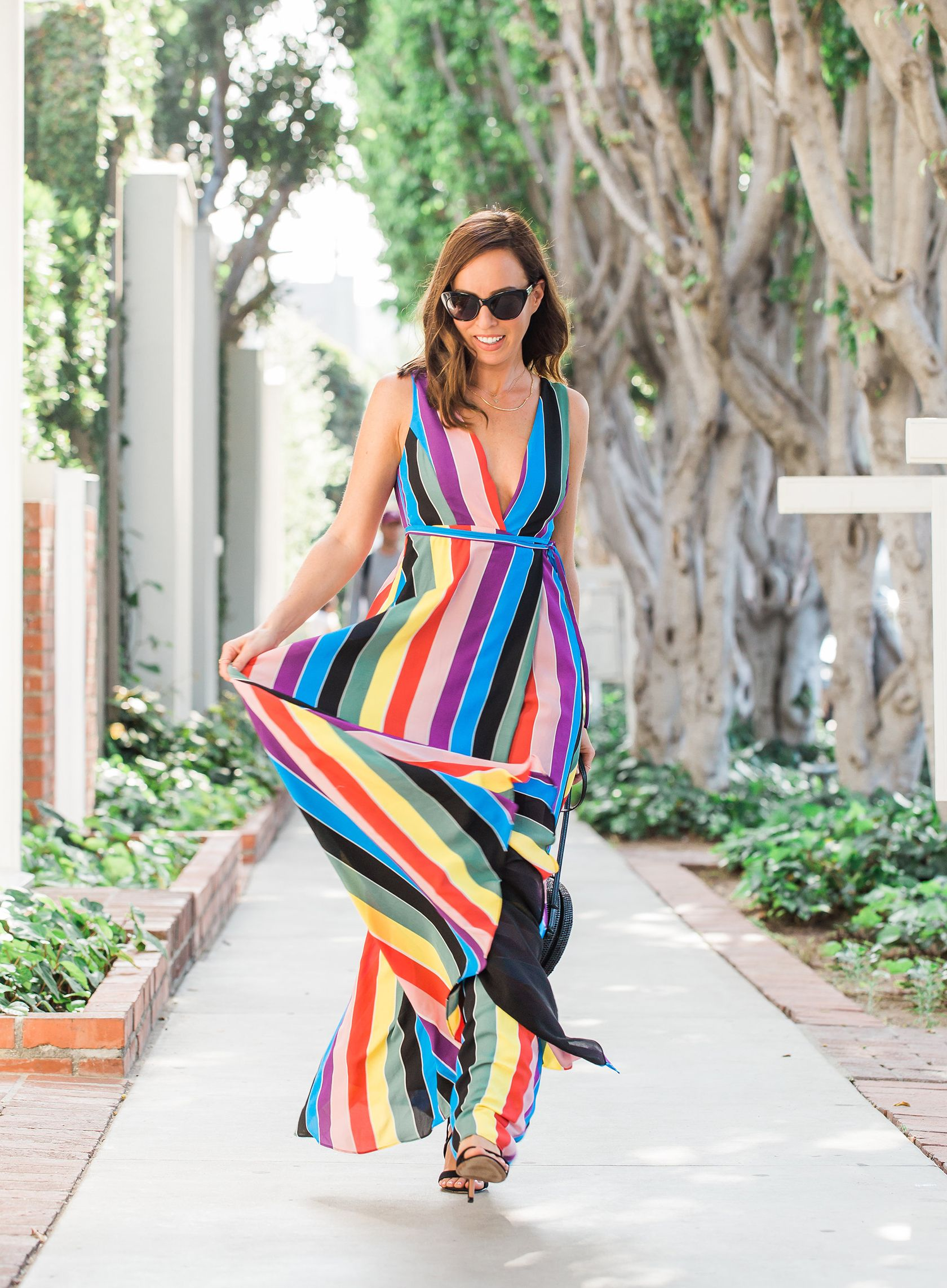 Be A Rainbow In Someone S Cloud How To Wear A Rainbow Dress Sydne Style Rainbow Dress Stripe Outfits Dresses [ 2284 x 1680 Pixel ]