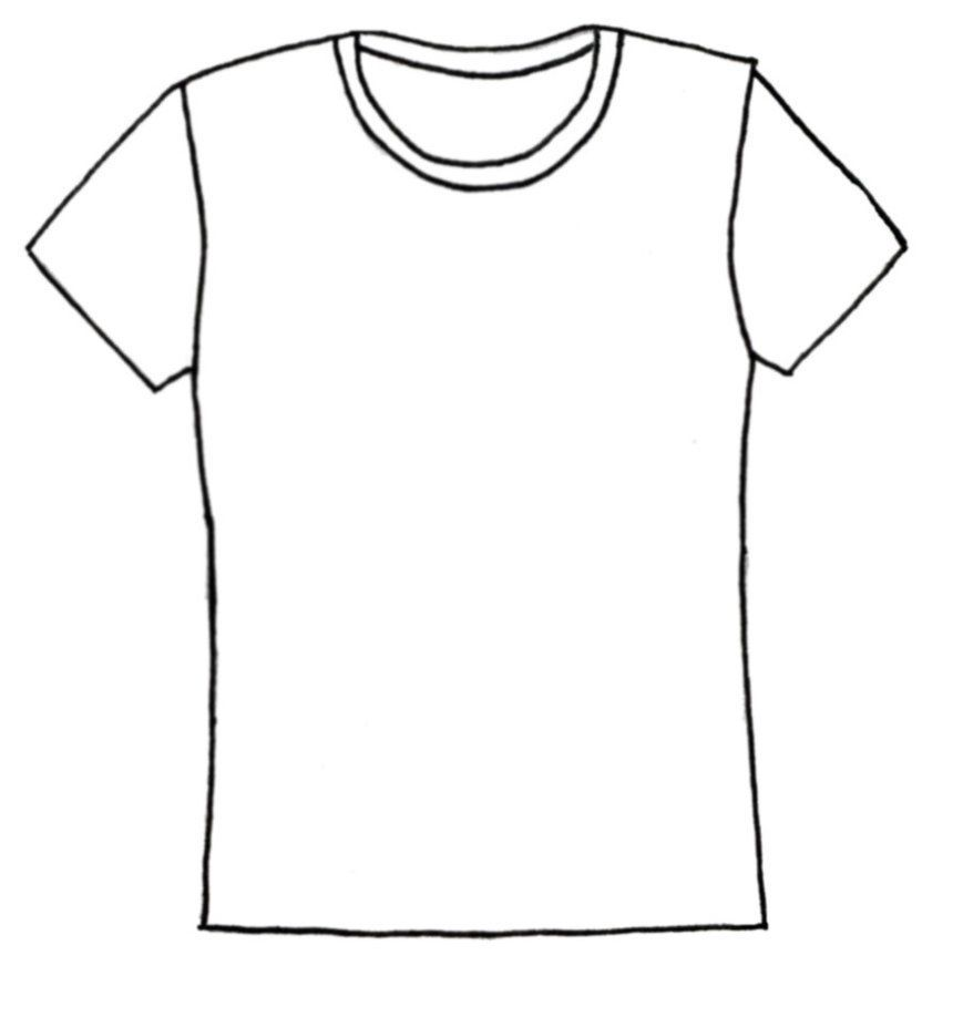T Shirt Coloring Page Coloring Home Shirt Drawing Shirt Template Shirt Clipart