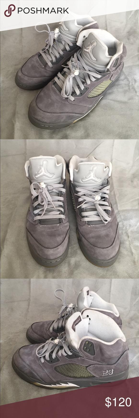 best sneakers e3a4e bd4f8 Nike Air Jordan 5 Retro Size 10 136027 005 Grey Great condition Nike Air  Jordan 5 Retro size 10 sneakers. Light graphite White-Wolf Grey. 136027 005.