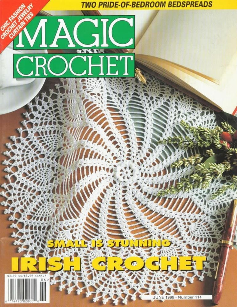 Crochet Patterns Irish Lace Patchwork Fine Art Pulls Fashion Magic Crochet 114 #MagicCrochet