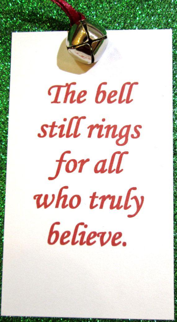 Polar Express Bell Tags, Christmas Tags, Book Quote Tags (12) | Christmas tag, Polar express ...
