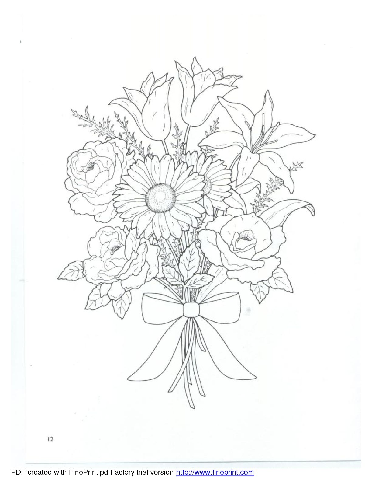 Dover - Floral Bouquets Coloring Book | Dover Coloring | Pinterest ...