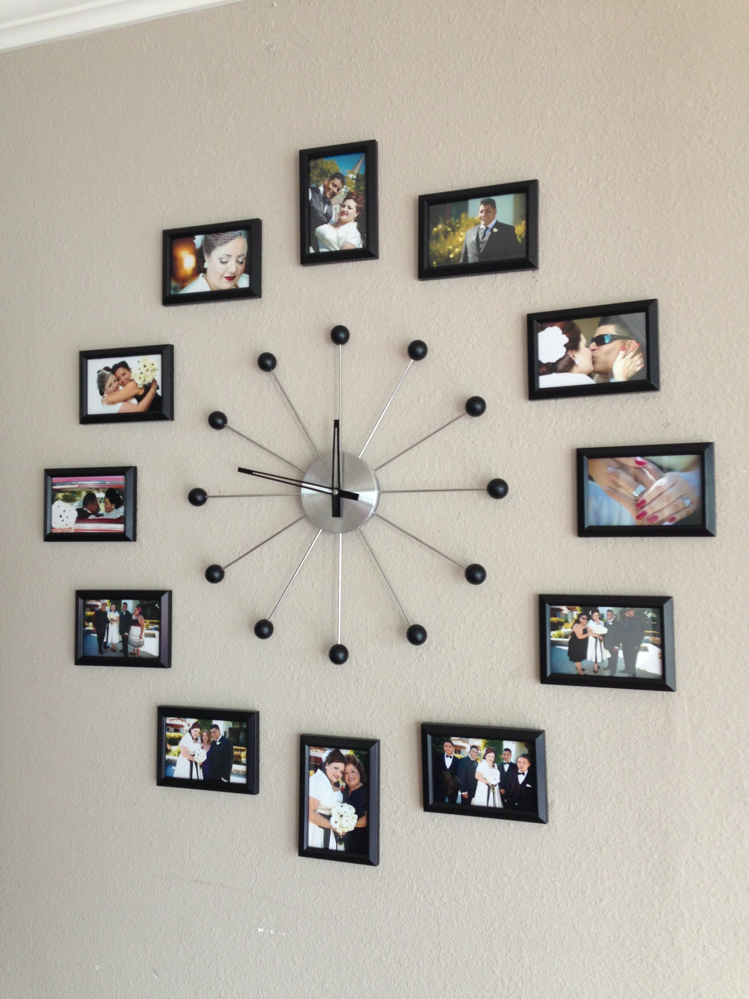 photo collage wall clock tv room pinterest photo